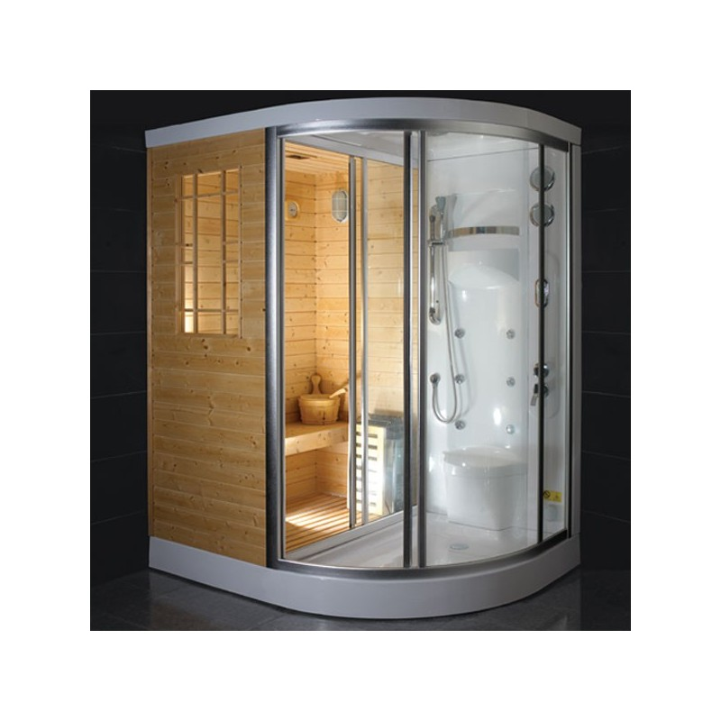cabine de douche hammam sauna himalaya. Black Bedroom Furniture Sets. Home Design Ideas