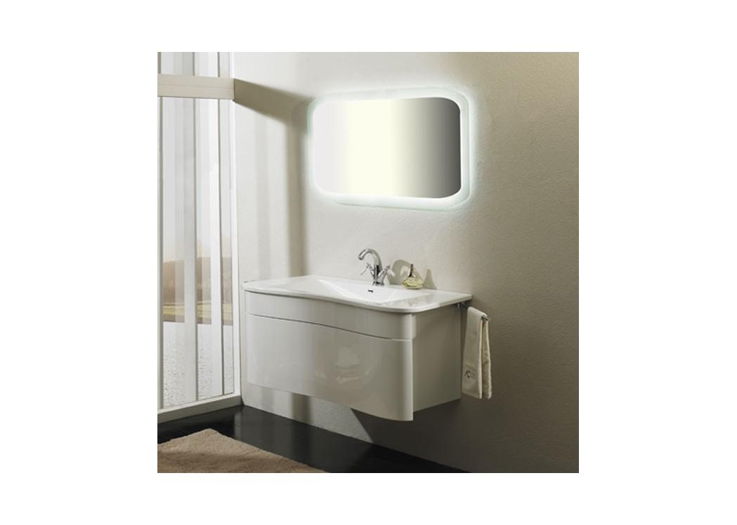 Meuble de salle de bain en mdf sdzh 33121 avec porte serviette for Meuble salle de bain avec porte serviette