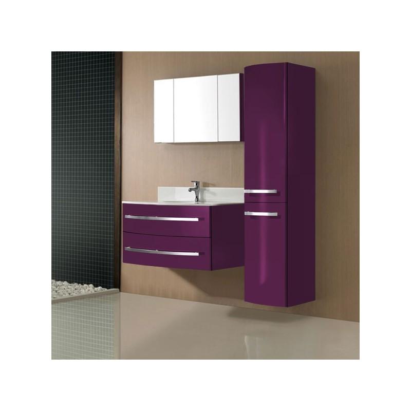 Meuble salle de bain prune sdg933pr for Salle de bain prune