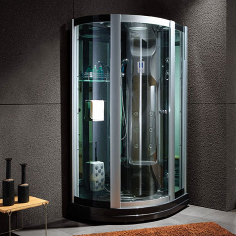 cabine de douche hammam d riviera black. Black Bedroom Furniture Sets. Home Design Ideas