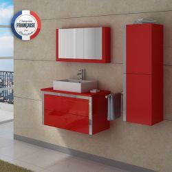 Lot de meubles de salle de bain DIS026-900 Rouge coquelicot
