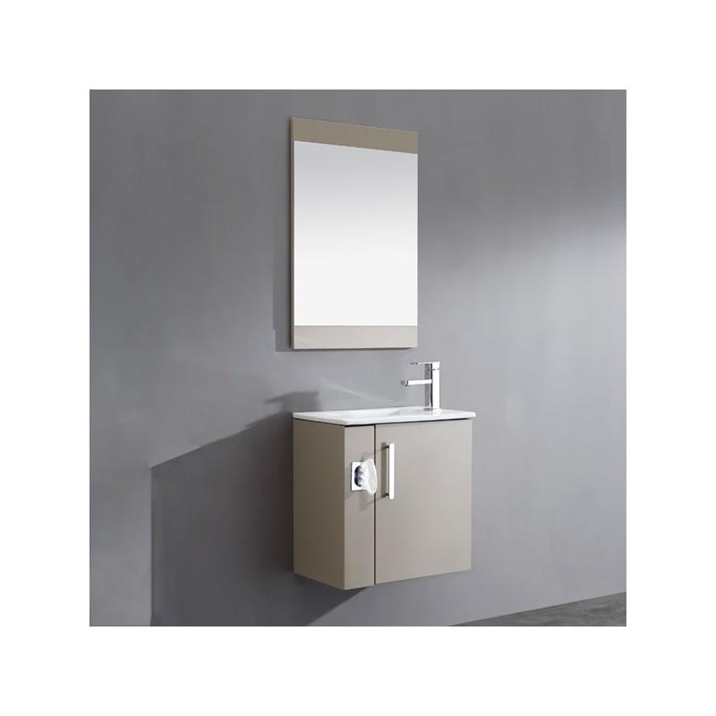 meuble salle de bain simple vasque marron glac sd092 550amg. Black Bedroom Furniture Sets. Home Design Ideas