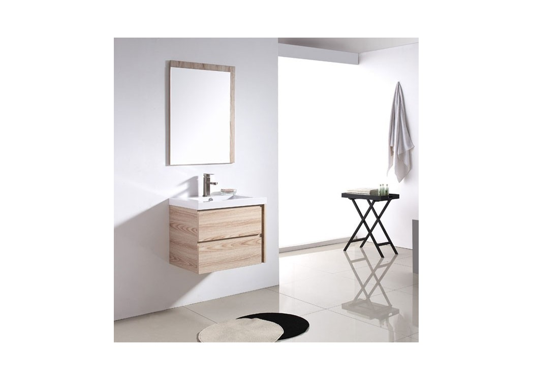 Meuble salle de bain beige ros sd070 600 for Meuble vasque simple