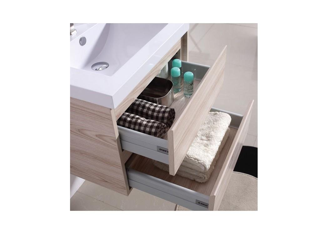 Meuble double vasque meuble de salle de bain noir dis911n for Meuble salle de bain noir