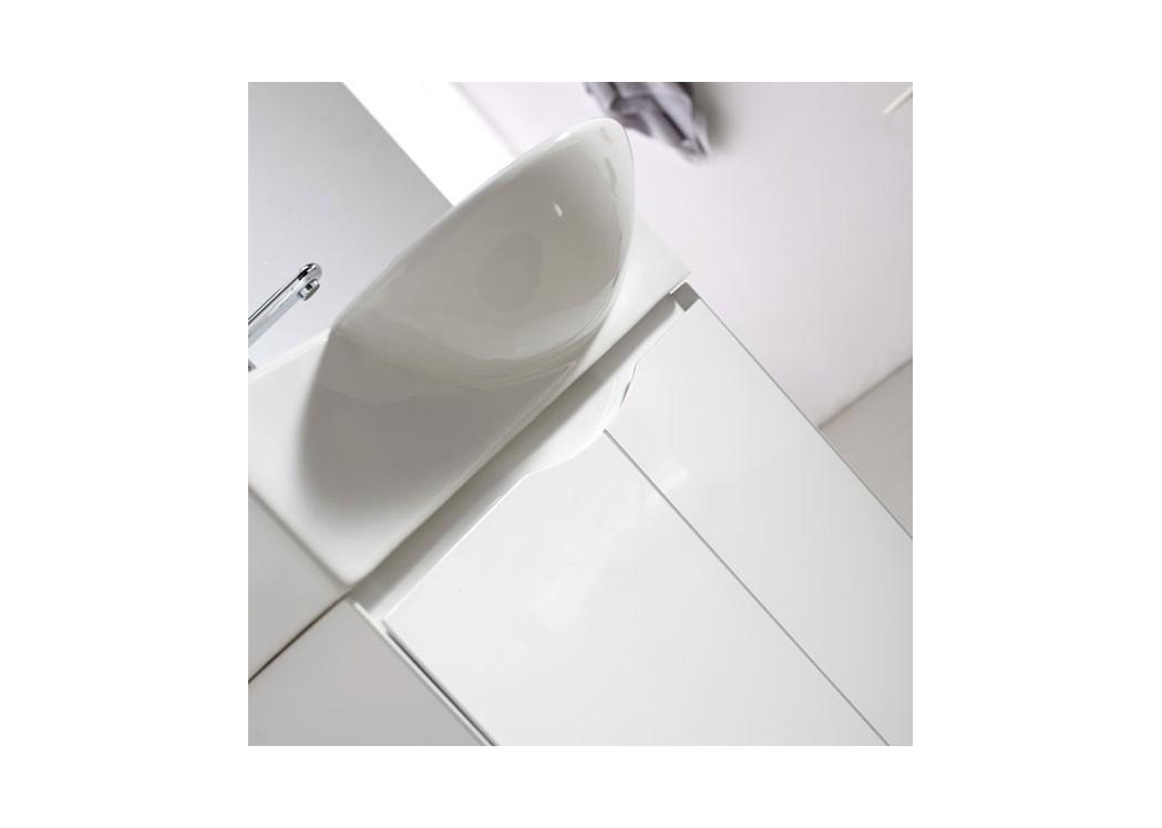 Meuble salle de bain blanc sd091 750 - Meuble vasque original ...