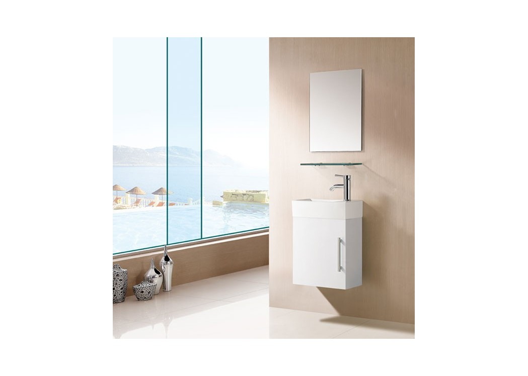 Meuble salle de bain blanc sd960b for Meuble vasque simple