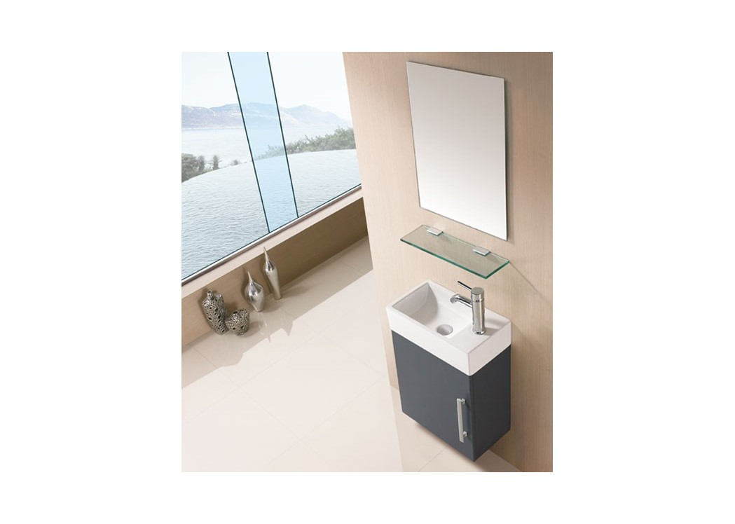 Meuble salle de bain gris taupe sd960gt for Meuble vasque simple
