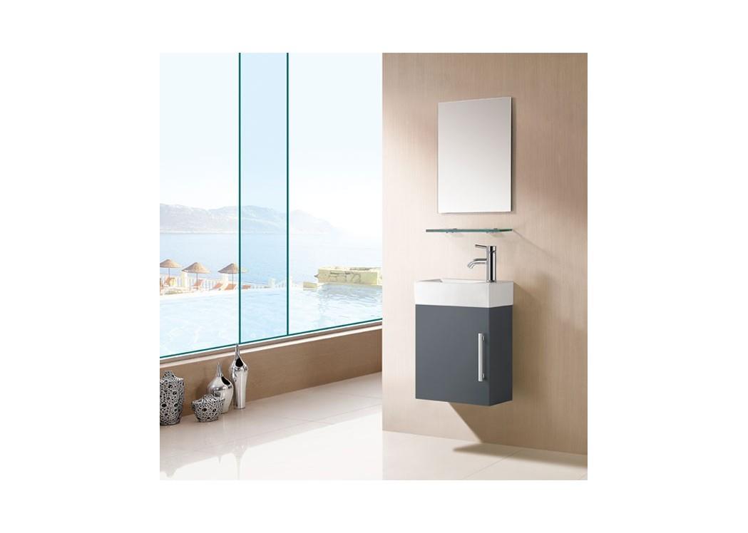meuble salle de bain gris taupe sd960gt. Black Bedroom Furniture Sets. Home Design Ideas