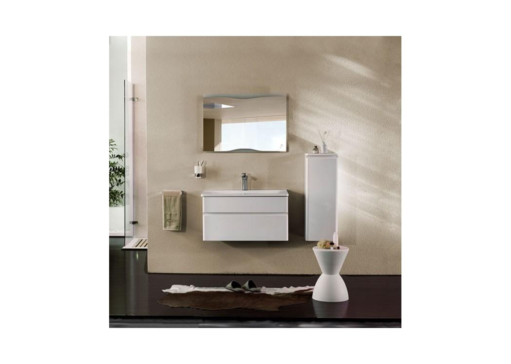 Meuble de salle de bain en mdf sdzh 22087 avec meuble sous for Meuble vasque colonne
