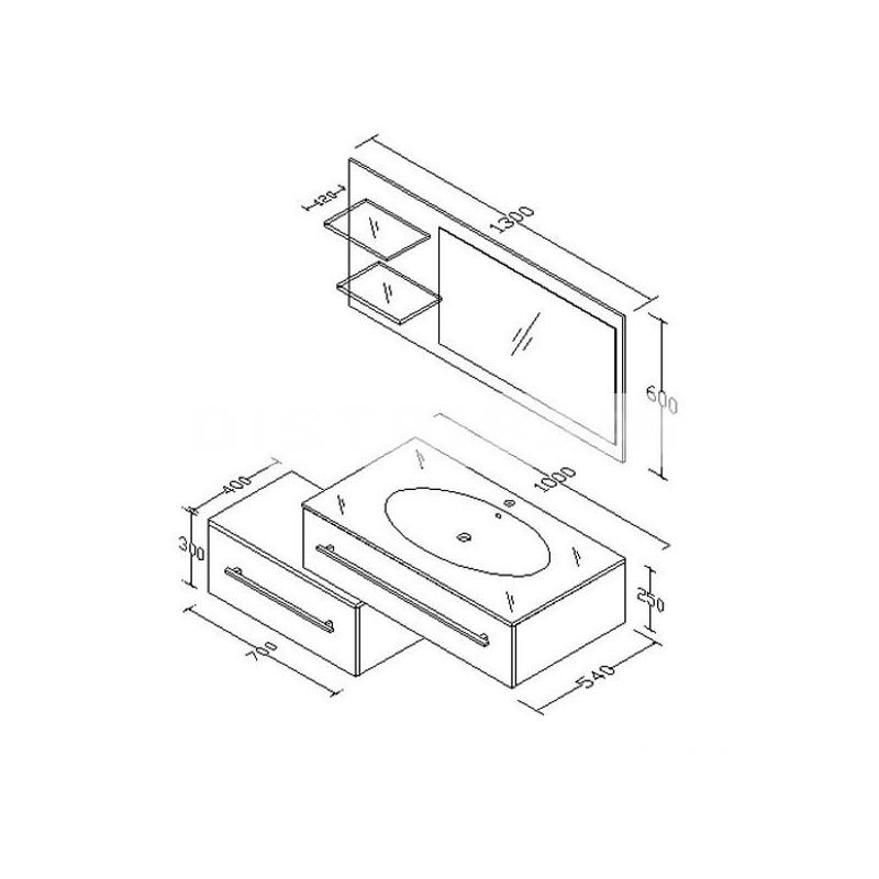 Meubles de salle de bain bois clair style scandinave DIS985SC