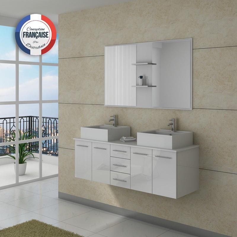 meuble double vasque dis982b. Black Bedroom Furniture Sets. Home Design Ideas