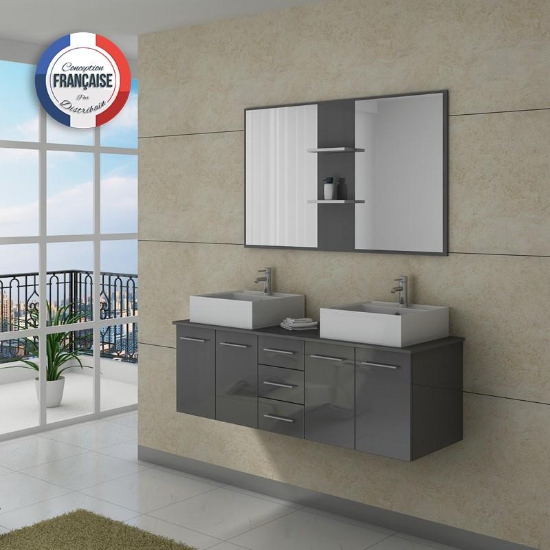 Meuble double vasque dis982gt for Meuble salle de bain prix