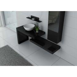 Ensemble de salle de bain double vasque à choisir en Blanc, Gris Taupe ou Noir.