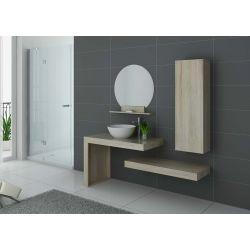 Aménagez votre salle de bains avec ce grand ensemble en Blanc, Gris Taupe ou Noir selon vos goûts.