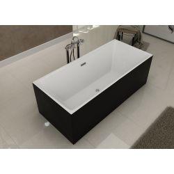 Ce meuble de salle de bain est decliné en Blanc, Gris taupe ou Noir.