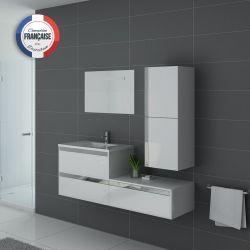 Meuble de salle de bain 1 vasque SUBLISSIMO Blanc