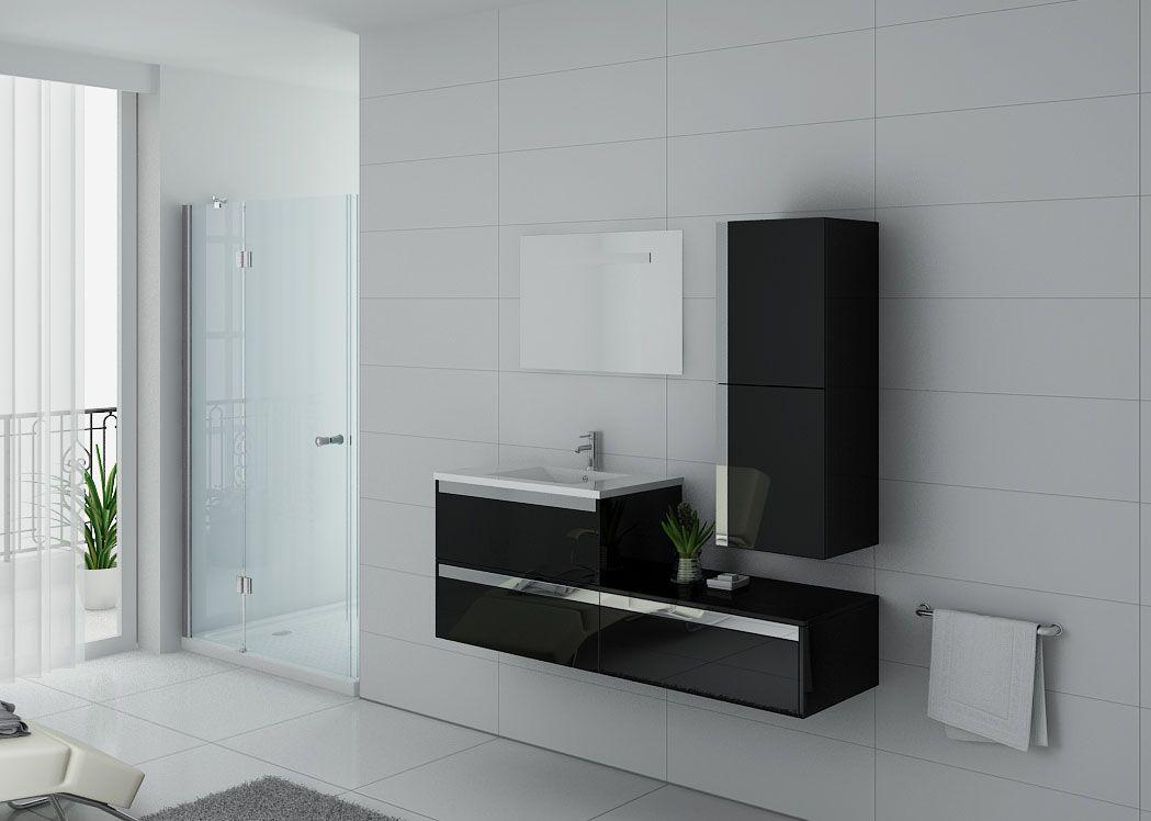 meuble de salle de bain simple vasque noir sublissimo n. Black Bedroom Furniture Sets. Home Design Ideas