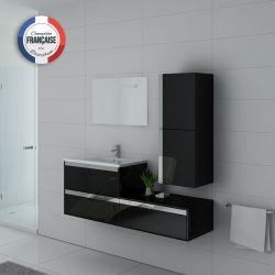 Meuble simple vasque suspendu SUBLISSIMO Noir