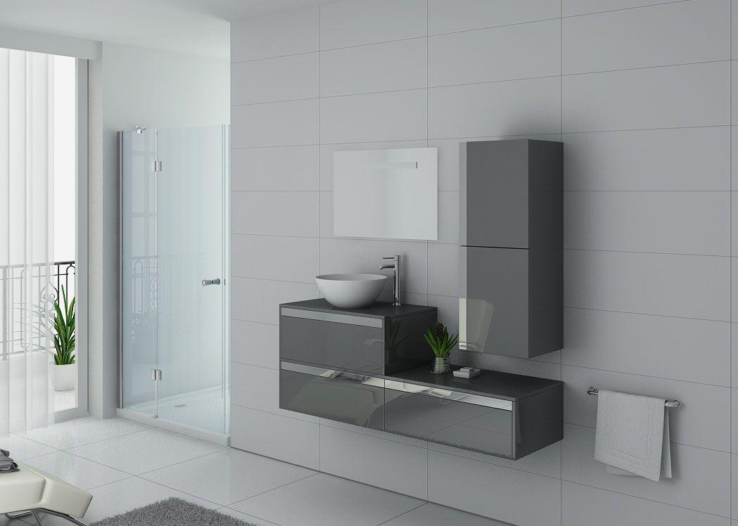 meuble de salle de bain simple vasque gris bolzano gt. Black Bedroom Furniture Sets. Home Design Ideas