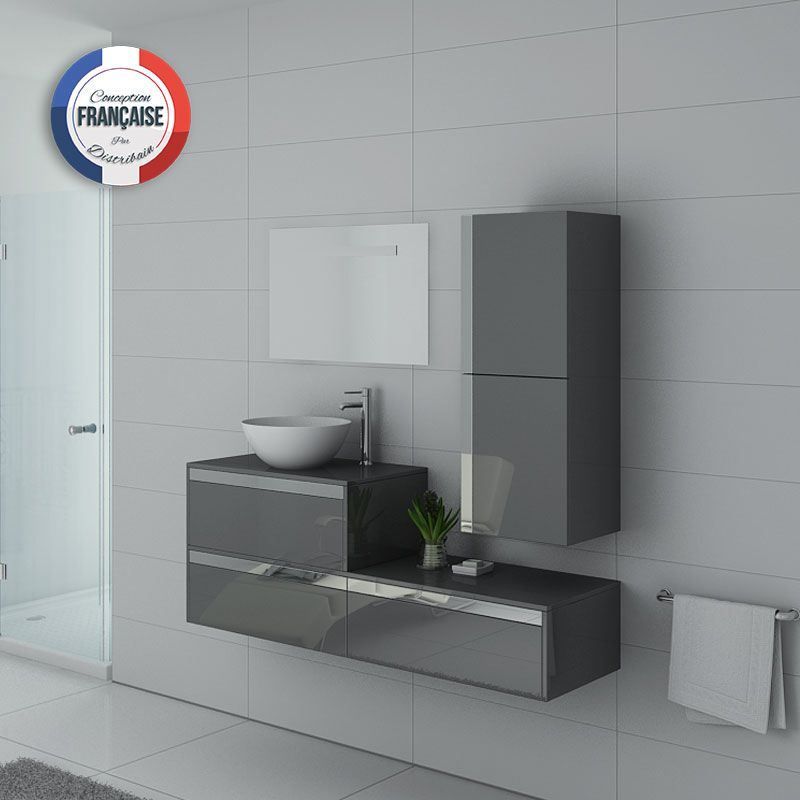 Meuble simple vasque BOLZANO Gris Taupe