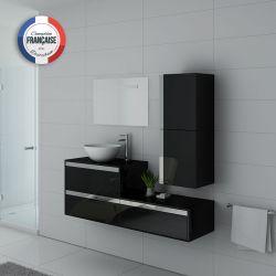 Meuble simple vasque BOLZANO Noir