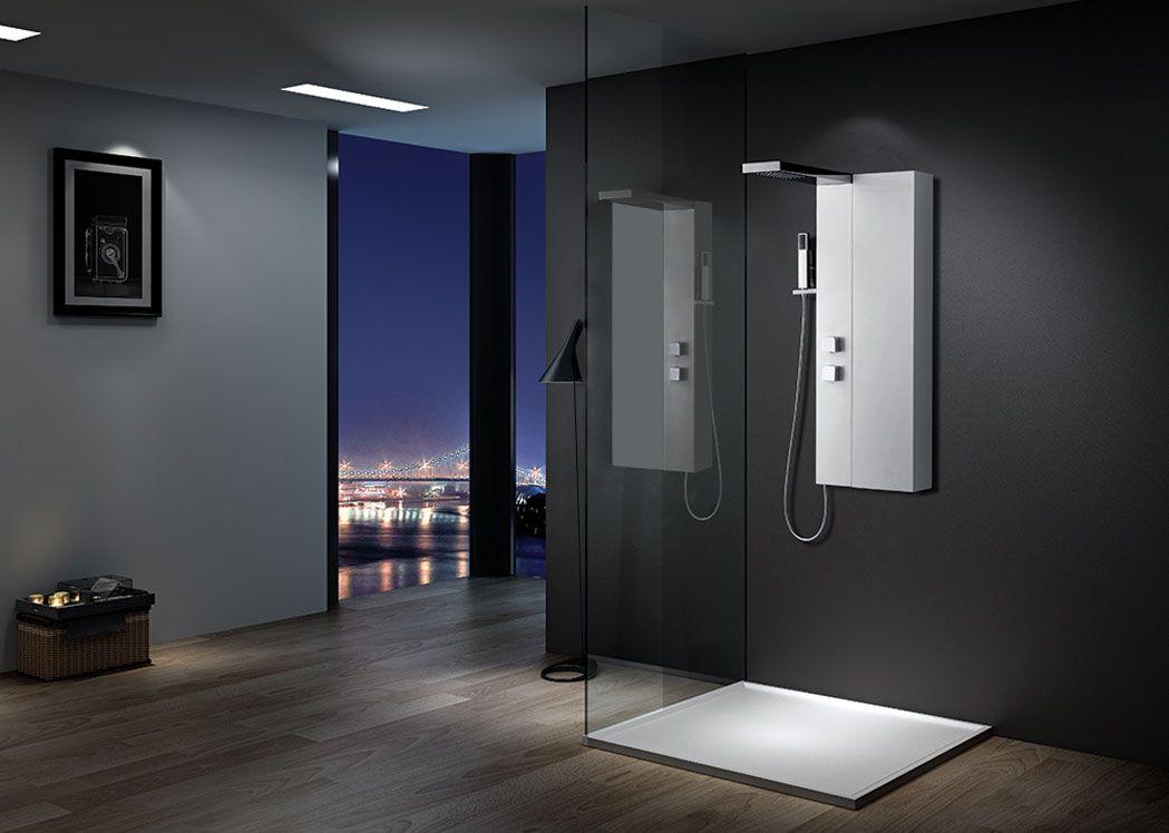 Colonne de douche avec rangement s053 colonne de douche - Meuble rangement douche ...