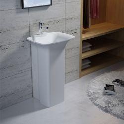 Vasque Totem rectangulaire sur pied en solid surface Réf : SDV30