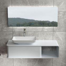 Ensemble plan de toilette et vasque rectangulaire SDVP7L+SDVP5