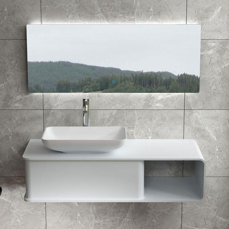Ensemble plan de toilette et vasque rectangulaire SDVP7L+SDVP5