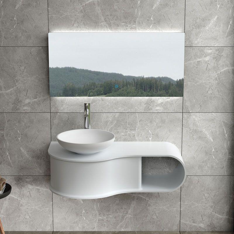 Plan de toilette SDVP8L + vasque ronde SDVP2