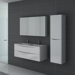 Meuble de salle de bain double vasque TREVISE Blanc