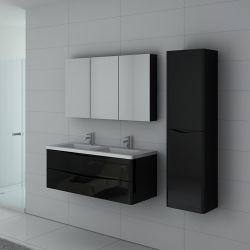 Meuble double vasque TREVISE Noir