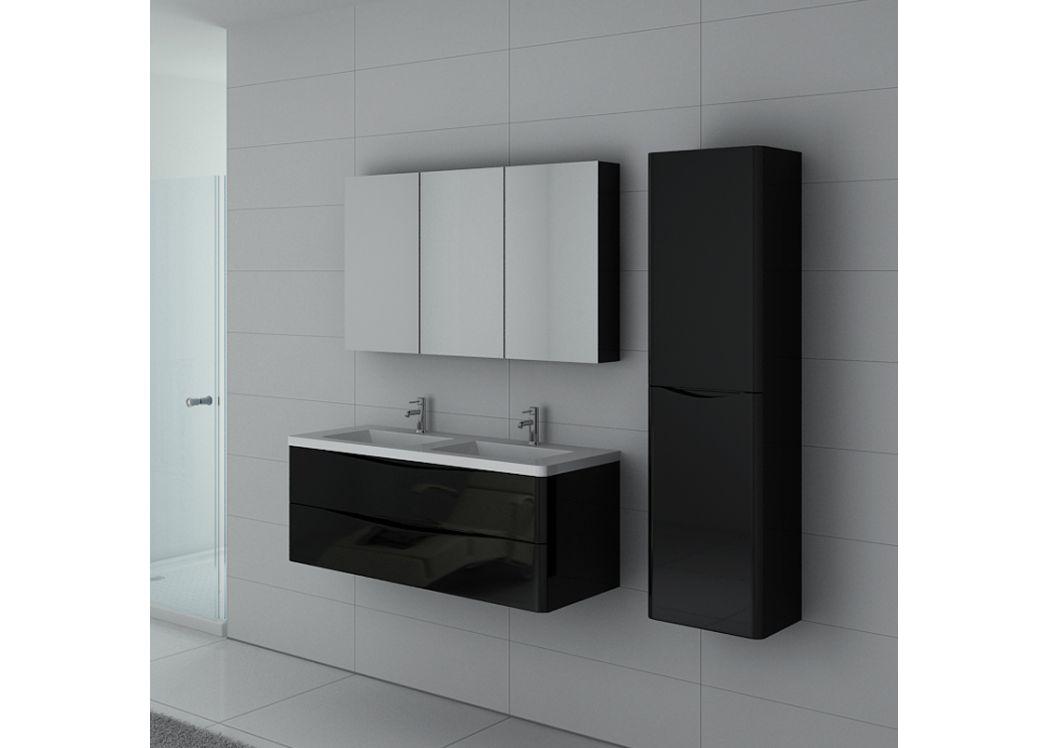 ensemble de salle de bain double vasque trevise noir meuble de salle de bain deux vasques avec. Black Bedroom Furniture Sets. Home Design Ideas