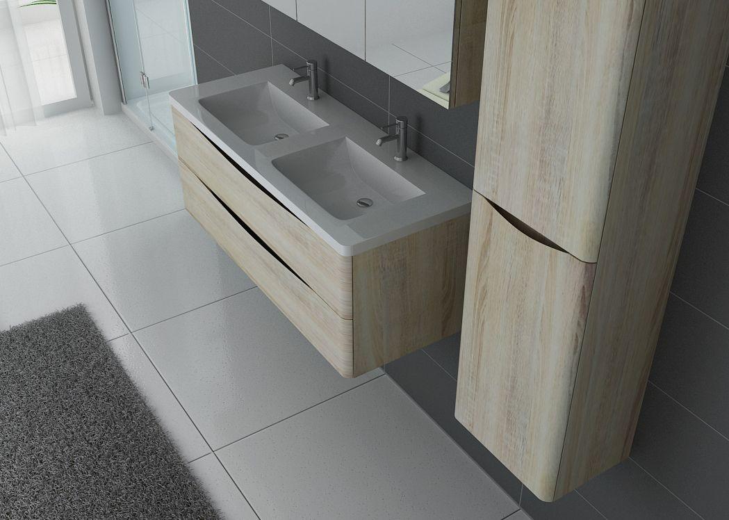 ensemble de salle de bain double vasque trevise scandinave meuble de salle de bain deux vasques. Black Bedroom Furniture Sets. Home Design Ideas