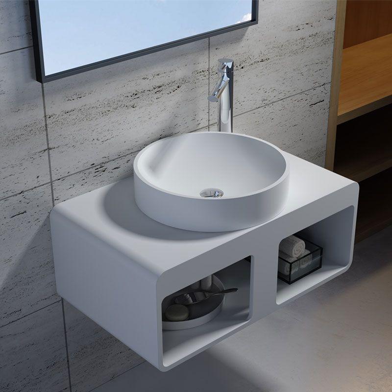 Plan de toilette suspendu et vasque à poser SDK56 + SDV40