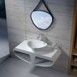 Plan de toilette SDK51 et vasque triangulaire SDV34