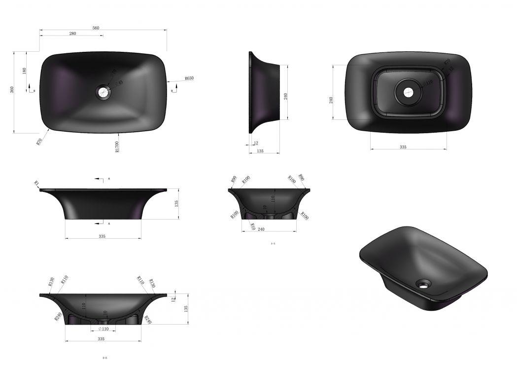 ensemble plan vasque et lavabo sdk52 sdv36 plan vasque. Black Bedroom Furniture Sets. Home Design Ideas