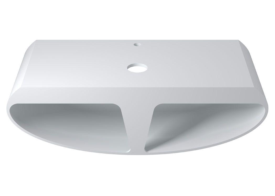 ensemble plan vasque demi lune 110 cm plan vasque demi. Black Bedroom Furniture Sets. Home Design Ideas
