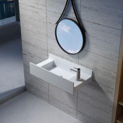 Vasque murale en solid surface SDV67R version droite