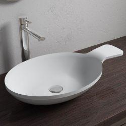 Vasque cuillère ovale en solid surface SDV11
