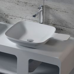 Vasque cuillère carrée en solid surface SDV13