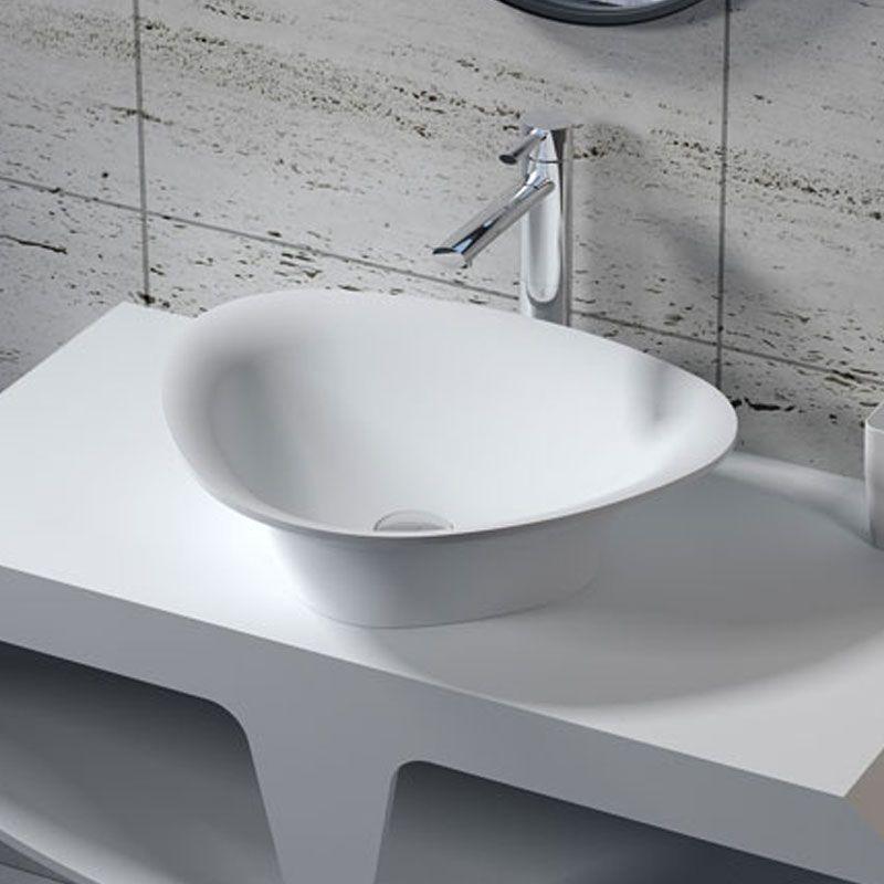 Vasque à poser triangulaire en solid surface SDV34