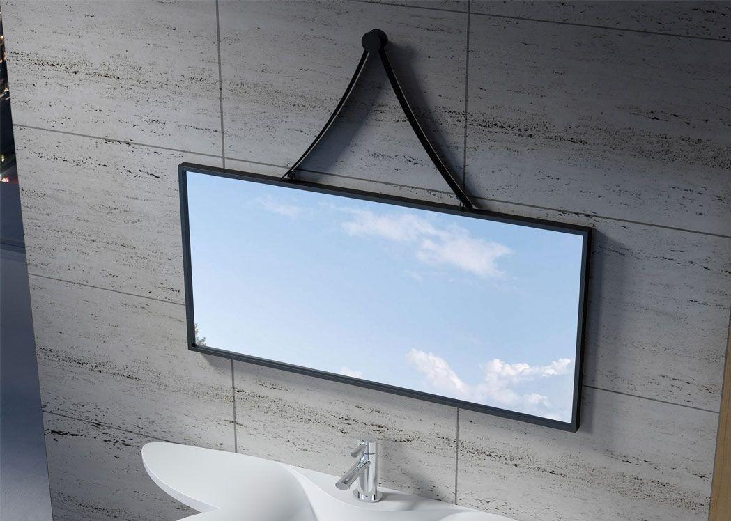 Miroir rectangulaire avec contour noir sdvm10045 distribain for Miroir rectangulaire noir