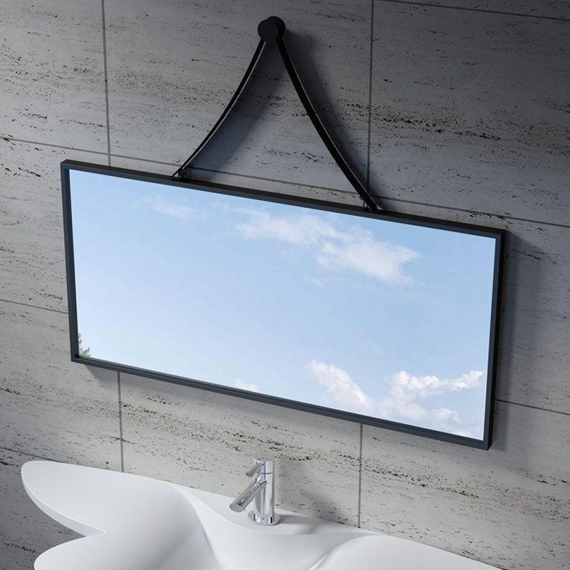 Miroir rectangulaire avec contour noir SDVM10045
