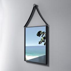 Miroir rectangulaire avec contour noir SDVM4260