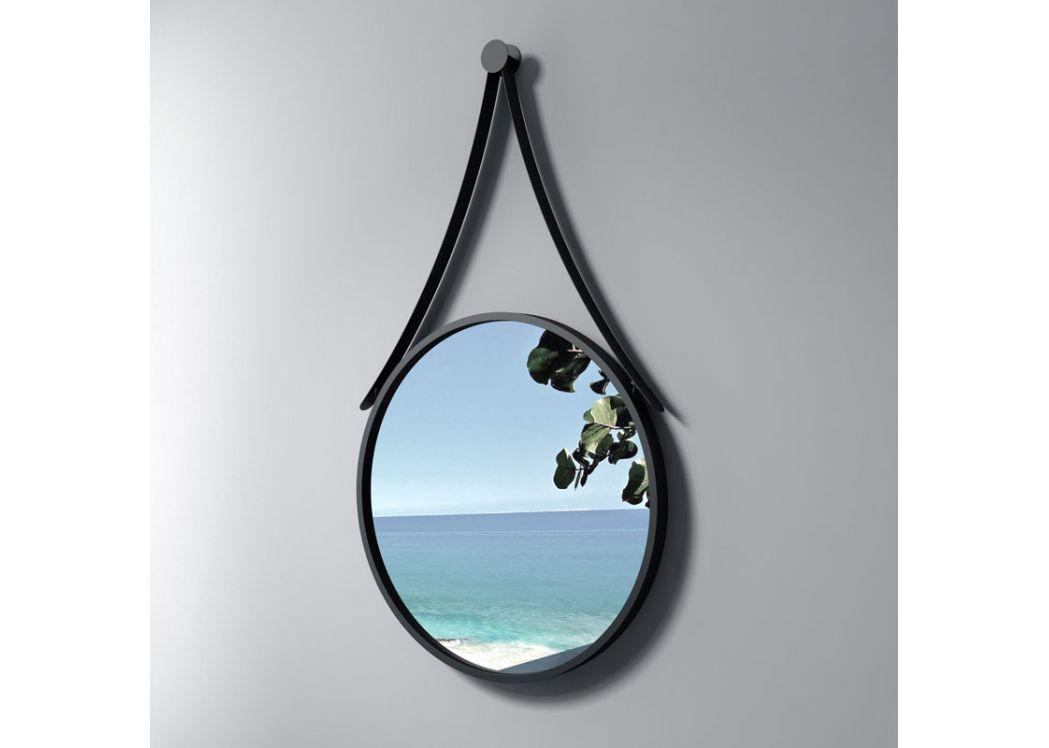 miroir rond avec contour noir sdvm5050 miroir rond noir pour salle de bain distribain. Black Bedroom Furniture Sets. Home Design Ideas