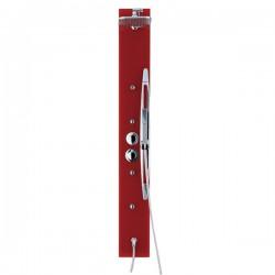 Colonne de douche rouge avec support douchette SDTNB18
