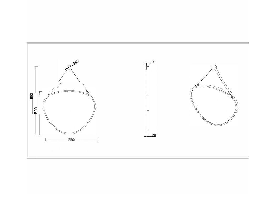 Miroir triangle arrondi miroir avec cadre design miroir en goutte sdvm5853 distribain for Miroirs grandes dimensions