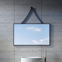 Miroir rectangulaire avec cadre noir SDVM8045