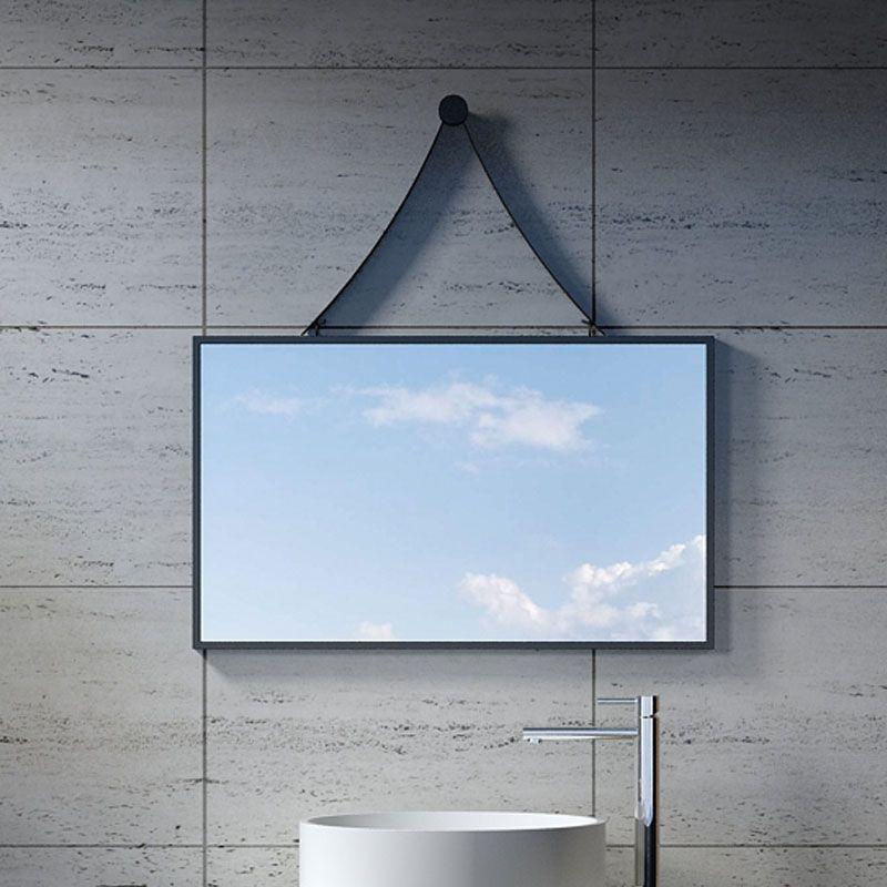 miroir rectangulaire avec contour noir miroir rectangulaire 800x850 mm sdvm8045 distribain. Black Bedroom Furniture Sets. Home Design Ideas